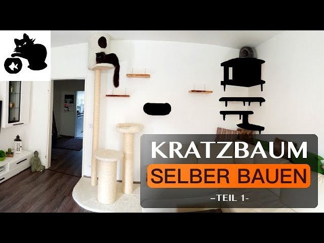 kratzbaum selber bauen diy kratzbaum kletterwand f r katzen catwalk. Black Bedroom Furniture Sets. Home Design Ideas